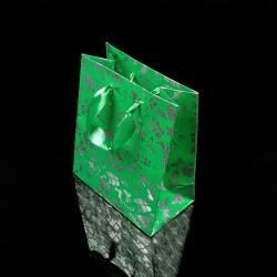 12 sacs cadeaux vert menthe motifs de Noël 27x23x8cm - 7527