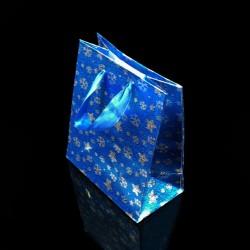 12 poches cadeaux bleues motifs étoiles 34x26x8cm - 7532