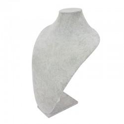 Buste en velours gris de grande taille 50cm - 7549