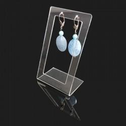 Support à boulces d'oreilles rectangulaire en acrylique transparent - 7570