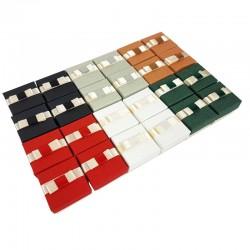 24 écrins bijoux 6 couleurs avec noeuds papillon - 10072