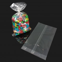 100 petits sachets cellophane alimentaire 14x25cm - 7578