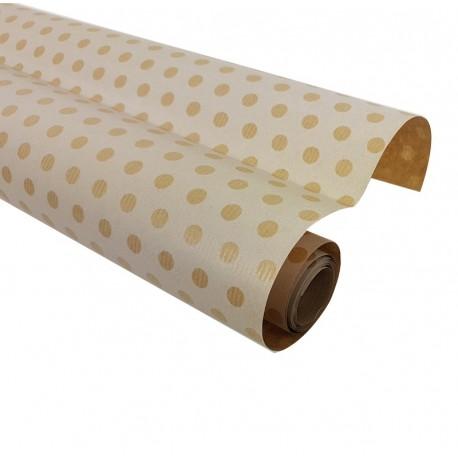 petit rouleau papier cadeaux kraft brun pois rouleau papier cadeau. Black Bedroom Furniture Sets. Home Design Ideas