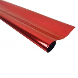 Rouleau de papier cadeaux rouge métalisé - 7600