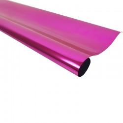 Rouleau de papier cadeaux rose métalisé - 7596