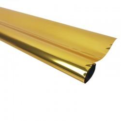 Rouleau de papier cadeaux doré métalisé - 7599