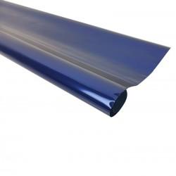 Rouleau de papier cadeaux bleu métalisé - 7597