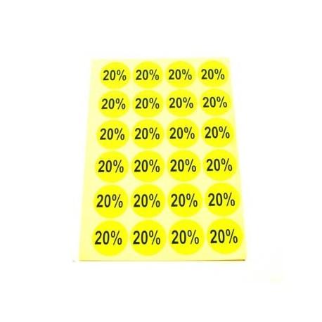 gommettes autocollantes 20% - 1867j