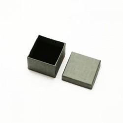 Lot de 120 écrins pour bijoux bague de couleur grise - 10009x5