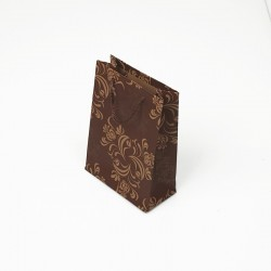 12 petits sacs kraft couleur marron motif arabesque 11.5x5.5x14.5cm - 7620