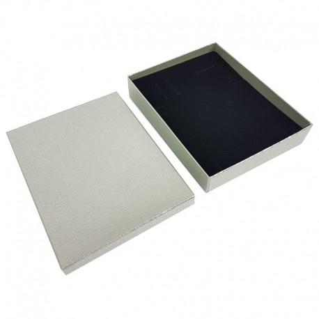 12 grands écrins gris-vert pour parures 17x14x2.3cm - 10077