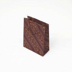 12 petits sacs kraft couleur rouge motif frise baroque 11.5x5.5x14.5cm - 7630