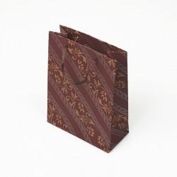 12 sacs en papier kraft rouge bordeaux motif baroque 24x8x33cm - 7636