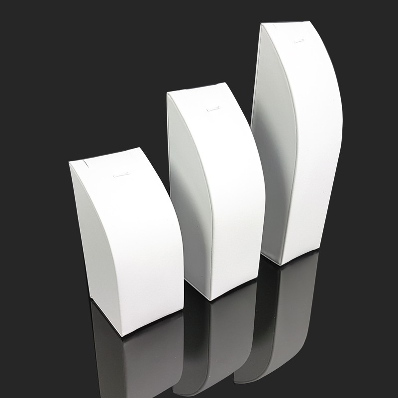 7686 3 pr/ésentoirs rectangulaires en simili cuir noir pour cha/îne et pendentif