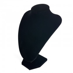 Lot de 10 petits bustes en velours noir 21cm - 6998x10