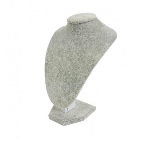Petit buste en velours gris 21cm - 6999