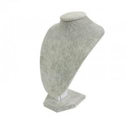 Lot de 10 petits bustes en velours gris 21cm - 6999x10