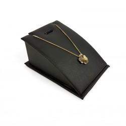 Porte bijoux en Simili cuir noir pour pendentif et chaîne - 7693