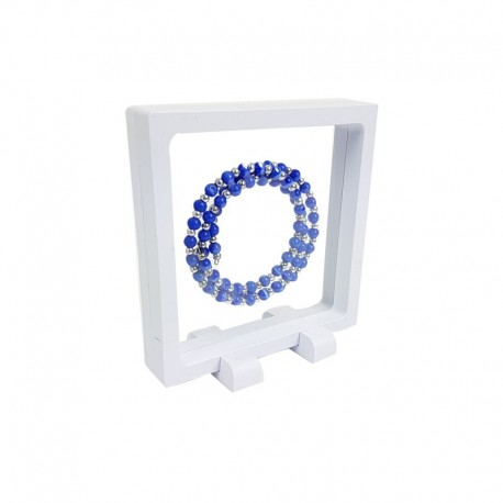 10 porte bijoux effet flottant de couleur blanche 11x11cm - 7708x10