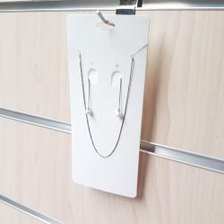 100 grands supports bijoux en carton couleur blanc - 7714
