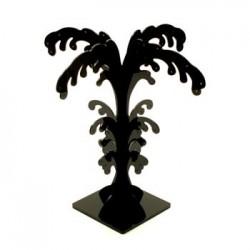 Lot de 2 arbres à boucles d'oreilles acrylique noir 40p - 5103