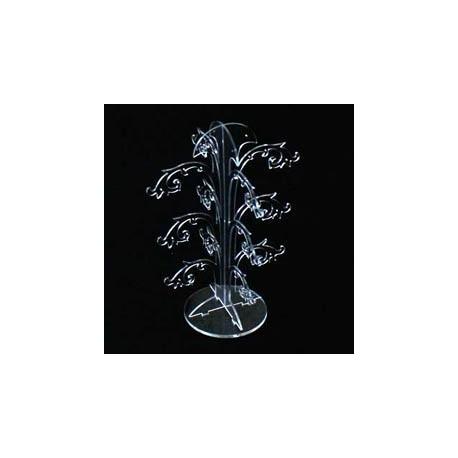 2 arbres à bijoux en acrylique transparent 24p - 5105