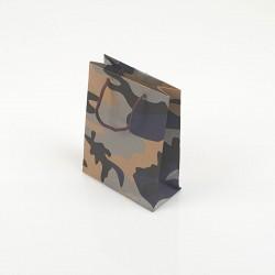12 petits sacs en papier kraft militaire bleu noir et gris 11.5x5.5x14.5cm - 7753