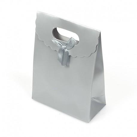 12 boîtes cadeaux couleur argenté mat 27x19x9cm - 5704