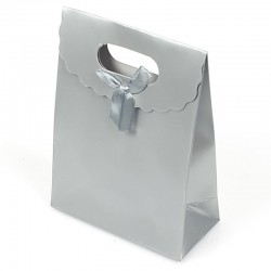 Lot de 12 boîtes cadeaux couleur argenté 31.5x24x12cm - 5705