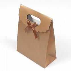 Lot de 12 boîtes cadeaux couleur cuivre unies 19x9x27cm - 7782