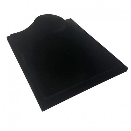 Buste bijoux présentation vitrine en velours noir - 7785
