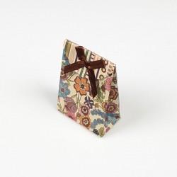 12 petites boîtes bijoux kraft motif fleuri 7.5x4x10.5cm - 7813