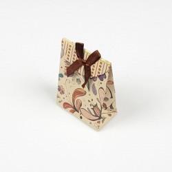 12 petites pochettes bijoux kraft motif de printemps 7.5x4x10.5cm - 7814