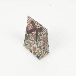 12 petites pochettes bijoux kraft motif fleuri 7.5x4x10.5cm - 7815