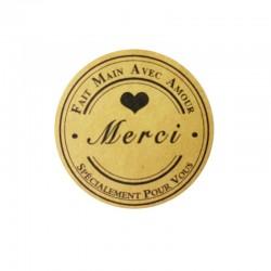 Étiquettes cadeaux autocollantes Fait Main Avec Amour - 7846