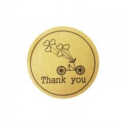 """Étiquettes cadeaux autocollantes """"Thank You"""" - 7848"""