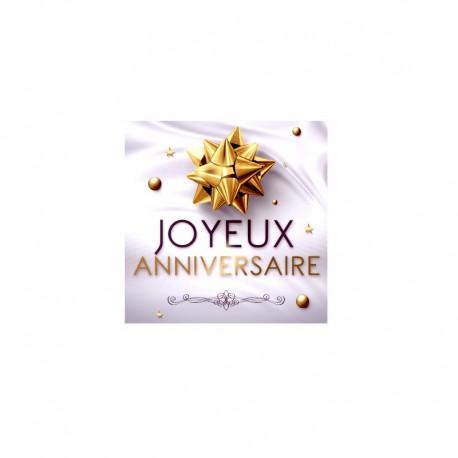 Étiquettes adhésives Joyeux anniversaire - 7667