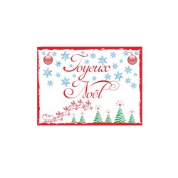 Étiquettes autocollantes Joyeux Noël - 6470