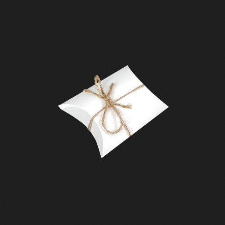 25 mini boîtes berlingot en carton pelliculé blanc 6.5x9x2.5cm - 7911