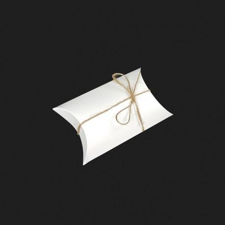 25 petites boîtes berlingot en carton blanc 8x13x3.5cm - 7912