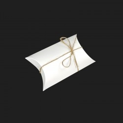 25 boîtes cadeaux berlingot en carton pelliculé blanc 10x17x4.5cm - 7913