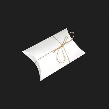 25 pochettes cadeaux berlingot en carton blanc 14x22x5cm - 7914