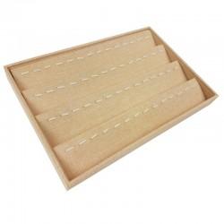 Présentoir pendentif tissu beige - 4053