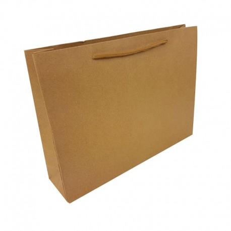 Lot de 12 poches en papier kraft brun naturel 33x8x24cm - 7919
