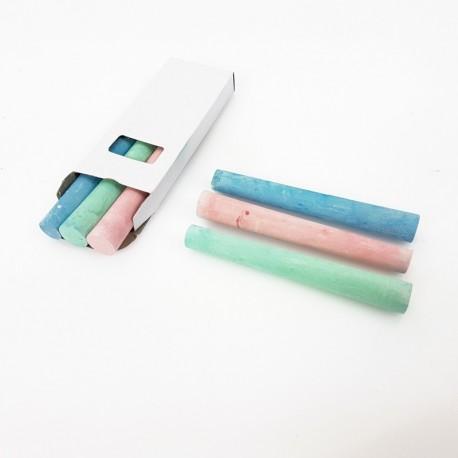 3 craies de couleur rose verte et bleue pour étiquette ardoise - 7918