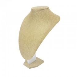 Buste en toile de jute beige pour colliers 29cm - 0996