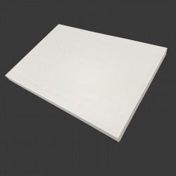 Présentoir plateau à bagues 3 positions en simili cuir blanc - 7920