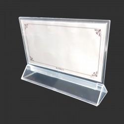 Support horizontal en acrylique pour affichette 22x12cm - 7927