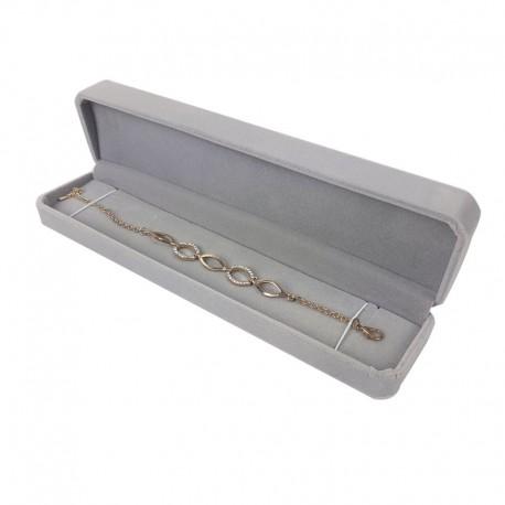 1 écrin en velours gris uni à bracelet ou stylo - 10091