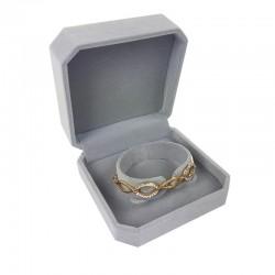 1 écrin en velours gris uni pour bracelet - 10093